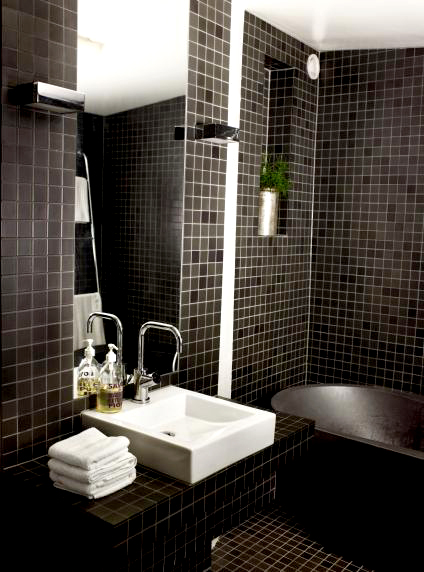 Black Bathroom Tile Ideas Brilliant Review