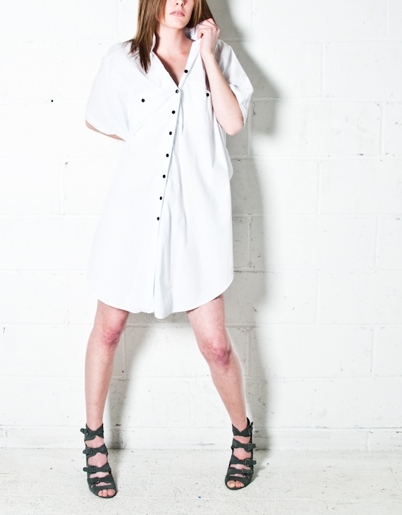 Loose tanks, asymmetrical sleeveless wraps, oversized shirt dresses,