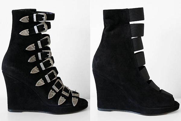 Chloe Sevigny x Opening Ceremony multi buckle wedge boots
