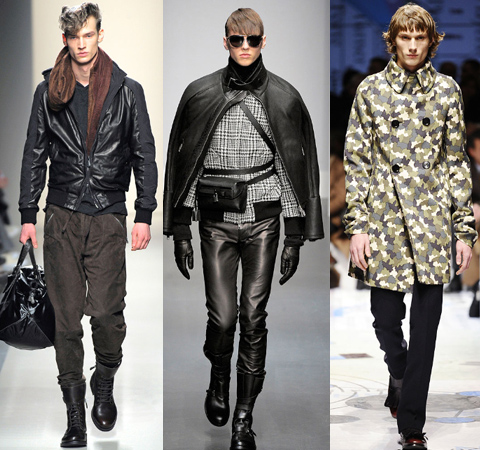 the Bottega Veneta show was all about rock'n'roll hairstyle and